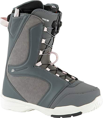 Nitro Damen Flora TLS Boot´21 Snowboardboot, Charcoal-Wht-Rose, 240