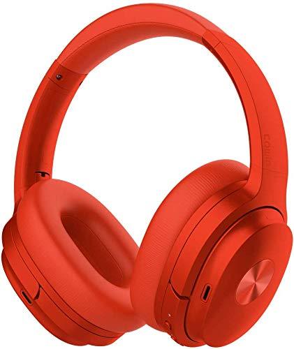 Cowin SE7 Auriculares inalámbricos Bluetooth con micrófono Hi-Fi de Graves Profundos, (Hi-Res Audio, cancelación de Ruido, Bluetooth,30 Horas de autonomía) (Violeta)