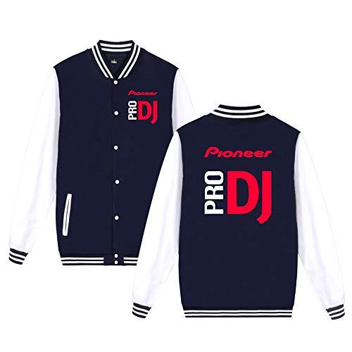 Pioneer Pro Dj Pullover Einfache Jacke Klassische beiläufige Baseball Jacke Populäre gedruckte Baseballuniform (Color : A01, Size : M)