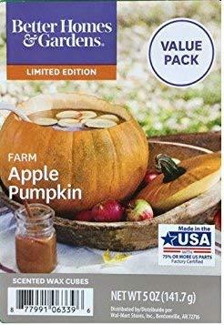 Better Homes & Gardens Farm Apple Pumpkin Wax Melts Cubes ~ Large 5 oz Package - Contains 12 Cubes!