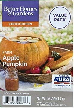 Better Homes & Gardens Farm Apple Pumpkin Wax Melts Cubes ~...