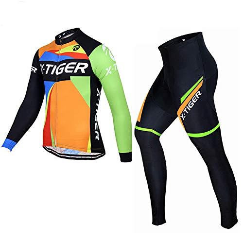T-JMGP 3D Almohadilla De Gel para Bicicleta MTB Ciclista Bici,Maillot + Shorts...