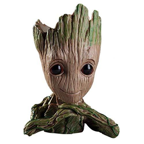 MANWEI Figuren Baby Groot Flowerpot Tree Man Blumentopf Pflanzer Actionfiguren Wächter Der Galaxie Toy Cute Model Toy Pen Pot Dropshipping, Schokolade