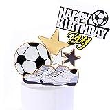 Svnaokr Decoración para tartas, diseño de fútbol, baloncesto, fútbol, decoración para tartas, decoración para tartas, decoración de cumpleaños (fútbol)
