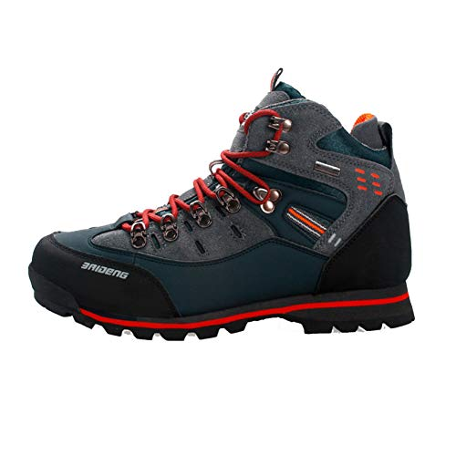 Botas de Tobillo para Hombre, al Aire Libre, Senderismo, Escalada, Botas de Trekking, Impermeables, Antideslizantes, con Cordones, Zapatillas de Moda
