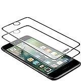 Techkun - Protector de pantalla para iPhone 6 Plus/6S Plus/7 Plus/8 Plus (2 unidades), color negro