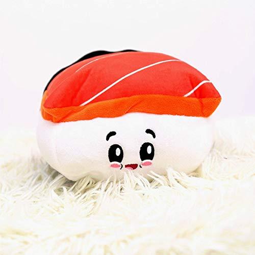 not Emoji Emotion Lachs Sushi Plüschtier, Weich Gefüllte Fisch Essen Kissen Spielzeug, Kinder Lustiges Geburtstagsgeschenk Home Sofa Dekor 24Cm