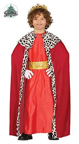 FIESTAS GUIRCA S.L. Costume da RE MAGIO Rosso 5-6 Anni