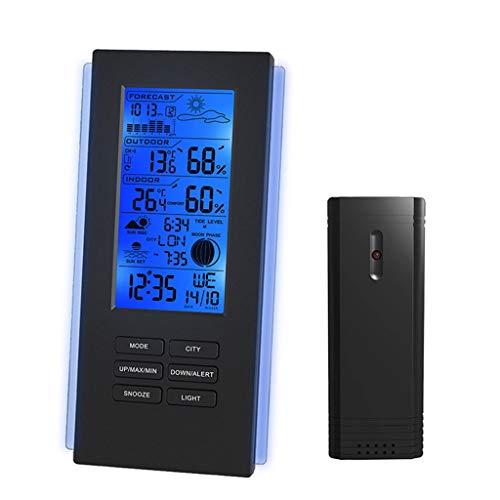 Thermomètre Sans Fil Hygromètre Station Météo Baromètre Prévisions Thermomètre USB Capteur Extérieur Horloge