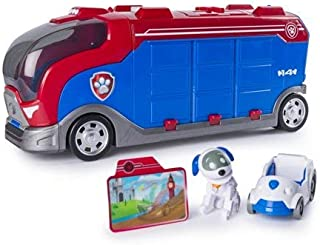 Paw Patrol Mission Paw - Mission Cruiser with Robo Dog, Marshall, Skye, and Chase , Vehicle and Figure with Cleaning Cloth, Bundle