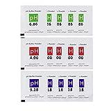 Nynelly 15pcs pH Meter Solución Buffer Polvo para Preciso y Fácil para...