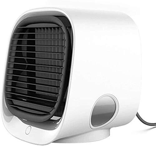 Znesd Filtro purificador de Aire, Ventilador de refrigeración y el humidificador, con USB/Función purificador/Mini Acondicionador de Aire portátil/Escritorio del Ventilador del refrigerador de a