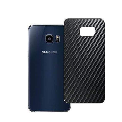 Vaxson 2 Unidades Protector de pantalla Posterior, compatible con Samsung Galaxy S6 edge plus Edge+, Película Protectora Espalda Skin Cover - Fibra de Carbono Negro