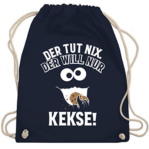 Shirtracer Karneval & Fasching - Der tut nix. Der will nur Kekse! - Unisize - Navy Blau - keks - WM110 - Turnbeutel und Stoffbeutel aus Baumwolle