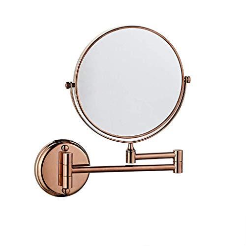 LAIGUI Specchio for il trucco a parete 1x Ingrandimento, Specchio da appoggio for tavolo da esterno con piedistallo Rotazione a 360 ° Gotofine Specchio a due lati Pieghevole Aiuto visivo