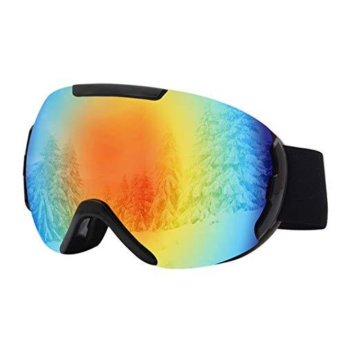 #NA Gafas antivaho de Doble Capa Gafas de Snowboard a Prueba de Rayos Ultravioleta para Hombres y Mujeres Esquí de Invierno Deporte Gafas de Esfera Grande