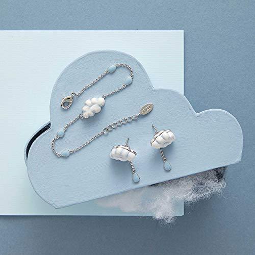 THUN - Bracciale da Donna Current con Nuvola - Gioielli Donna - Linea Pioggia di Colori - Ottone Rodiato, Ceramica, Smalto a Freddo