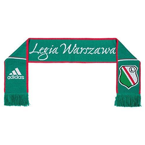 adidas Legia Varsavia Sciarpa-Tifoso Warszawa G72123 - Verde, Taglia Unica