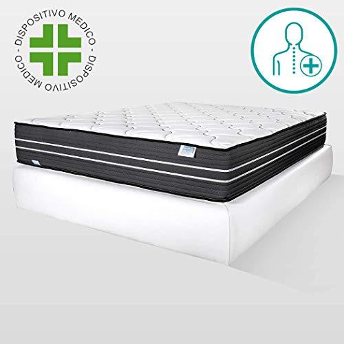 Farmarelax Materasso Dual Comfort,80x190 cm, Altezza 28cm Memory Foam...