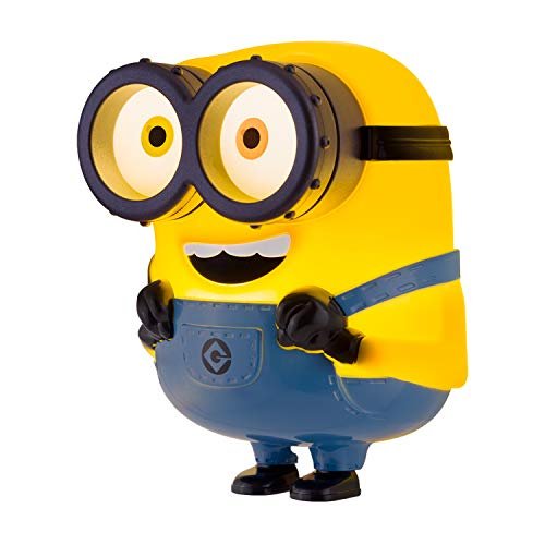Minions LED Night Light, Plug-in, Dusk to Dawn, UL-Listed, Yellow Glow, Despicable Me, Bob, Ideal for Bedroom, Nursery, Bathroom, 43742