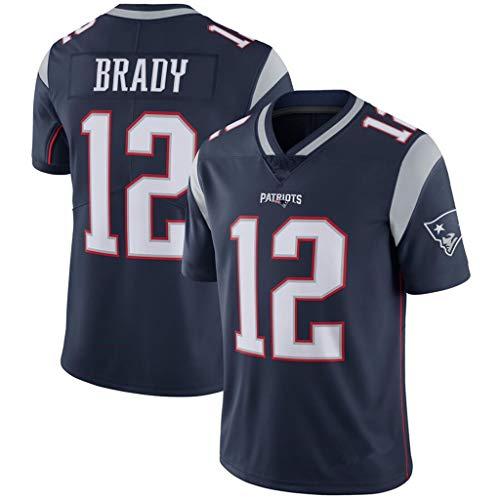 YMXBK Maillot NFL Patriots Patroits12# Brady 87# 11 Legend II Sport Top T-Shirt,12#-1,S
