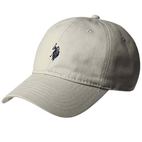 U.S. POLO ASSN. Herren Cotton Adjustable Curved Brim Baseball Cap with Embroidered Small Pony Logo Baseballkappe, hellgrau, Einheitsgröße