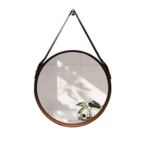 C-J-Xin Mural Miroir, Miroir décoratif Chambre ronde Salle de bain étanche Miroir Ceinture artificielle Accessoires café salon de thé Miroir de maquillage (Size : 50 * 50CM)