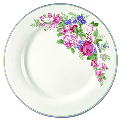 GreenGate Dinner Plate Rose White
