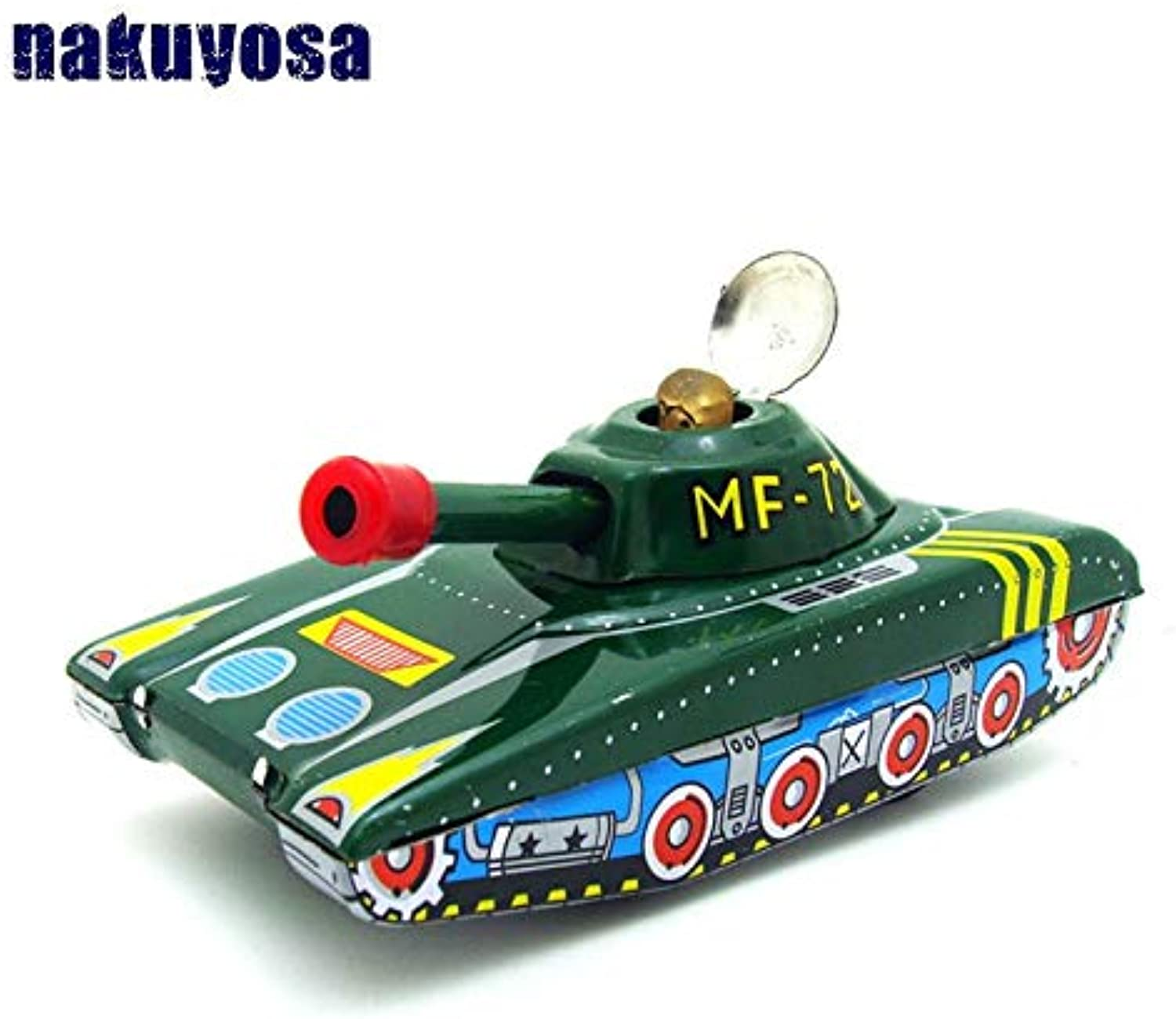 Generic Inertia Tank Model MF721 Classic Tin Toy Clockwork Toys Collection Nostalgic Toys Cars Kids Toys Gifts