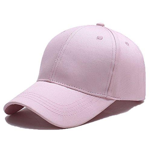 Yidarton Unisex Kappe Outdoor Baseball Cap Verstellbar Erwachsenen Mütze Casual Cool Mode Baseballmütze Hip Hop Flat Hüte (Rosa)