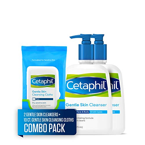 Cetaphil Gentle Skin Cleanser for All Skin Types, Face Wash for Sensitive Skin, 4 Fl Oz (Pack of 3)