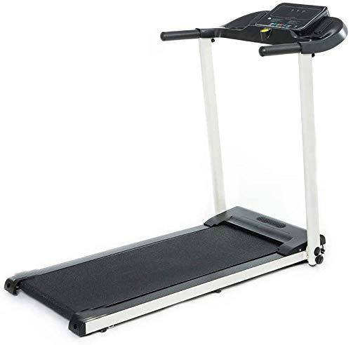 Adecuado para uso en el hogar/oficina de cinta de correr plegable, con 12 programas, velocidad ajustable, pantalla LCD,Black