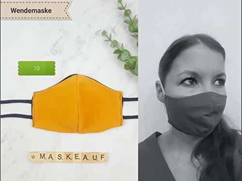 Mund- und Nasenmaske/Community-Maske - (Kinder & Erwachsene) handgenäht - unifarben