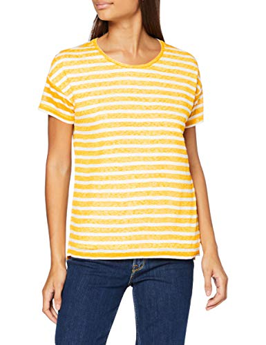 edc by Esprit 057cc1k010 Camiseta, Multicolor (Sunflower Yellow), 34 (Talla del Fabricante: X-Small) para Mujer