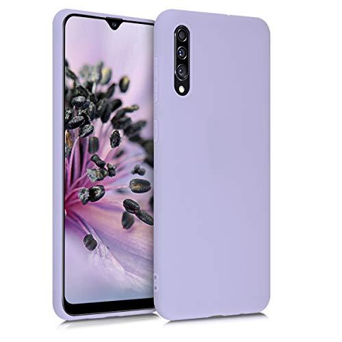 kwmobile Custodia Compatibile con Samsung Galaxy A30s - Cover in Silicone TPU - Back Case per Smartphone - Protezione Gommata Lavanda Pastello