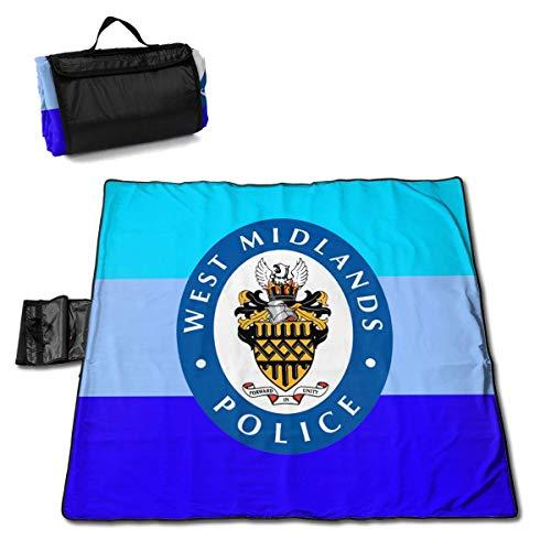 Suo Long Fourre-Tout de Couverture de Pique-Nique de Police de West Midlands pour Le Camping de Plage sur Le Tapis Pliant d'herbe