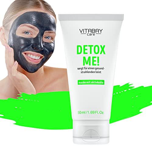 Detox Me! mascarilla facial seborreguladora: limpia, aclara - carbón activado y aloe vera - 50ml