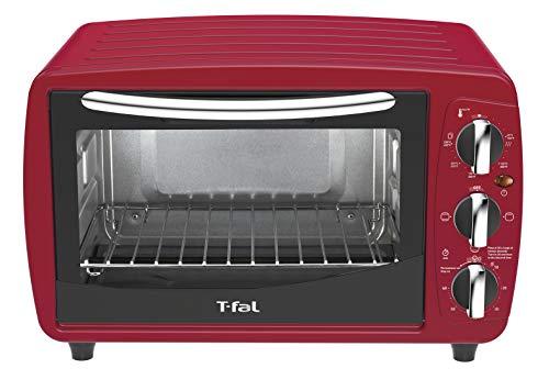 T-FAL Horno Eléctrico OF32A5MX Multifuncional de 18L donde podrás hornear, tostar, Asar, color Rojo