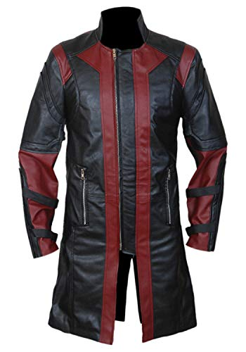 Women's & Men's Presents lambskin Soft Weight Long Black Leather Coat