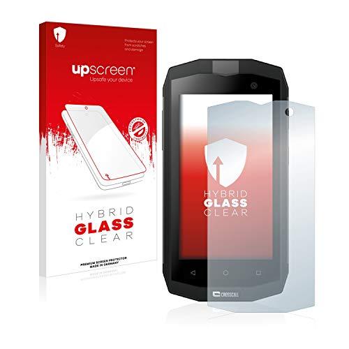 upscreen Hybrid Glass Panzerglas Schutzfolie kompatibel mit Crosscall Trekker M1 / M1 Core 9H Panzerglas-Folie