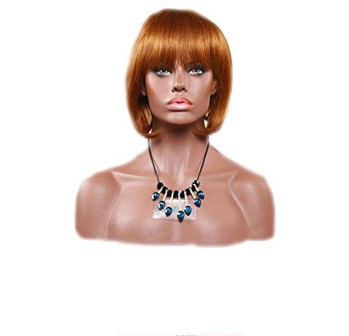 XY-QXZB Europäische und amerikanische Frauen kurz Bobo Kopf Mode schrägen Pony echte Haarperücke , A