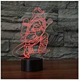 3D Illusion Los bomberos Lámpara luces de la noche ajustable 7 colores LED Creative Interruptor táctil estéreo visual atmósfera mesa regalo para Navidad