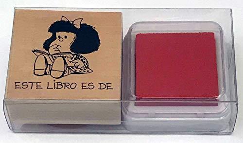 Sello exlibris mafalda rojo (SELLOS)