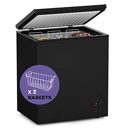 Northair Chest Freezer - 5 Cu Ft with 3 Removable Baskets - Reach In...