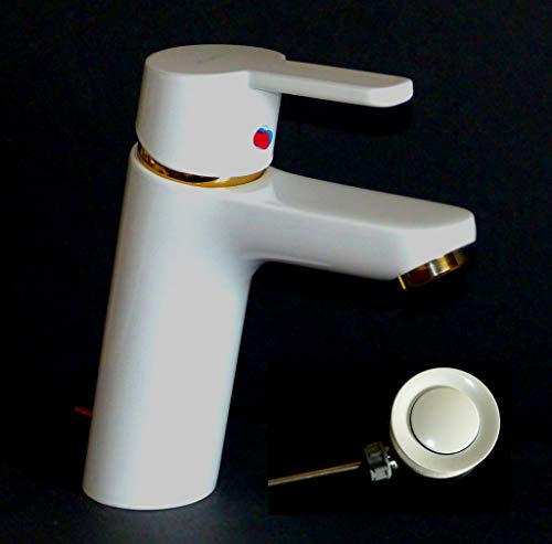 Kludi Waschbecken-Armatur-Einhebelmischer LOGO NEO XL 372909175 Weiss/gold
