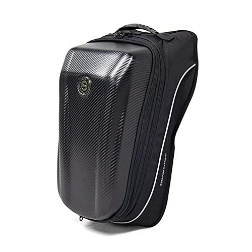Bolsa de asiento trasero de motocicleta impermeable mochila de carreras bolsa de cola de gran capacidad para casco extensible