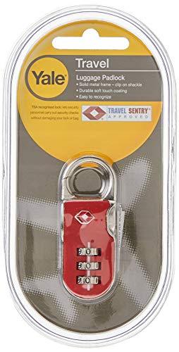 TSA Combination Travel Padlock 16.5mm Red Yale