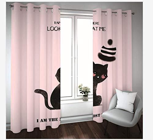 cortinas cortas gatos