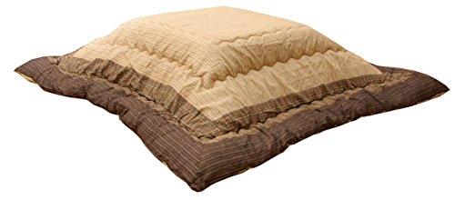 イケヒコ こたつ布団 長方形 ゆかり 約205×285cm ブラウン しじら 厚掛け 日本製 和 #5100159
