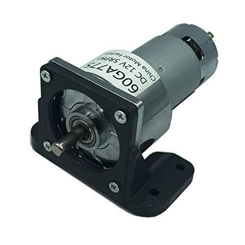 Zyilei- Motor Gleichstrom Leistungsstarker Micro-Permanentmagnet hoher Drehmoment 24V DC-Getriebemotor, 12 Volt langsamer, langsamer Geschwindigkeit einstellbarer Geschwindigkeit, Verschleißfest